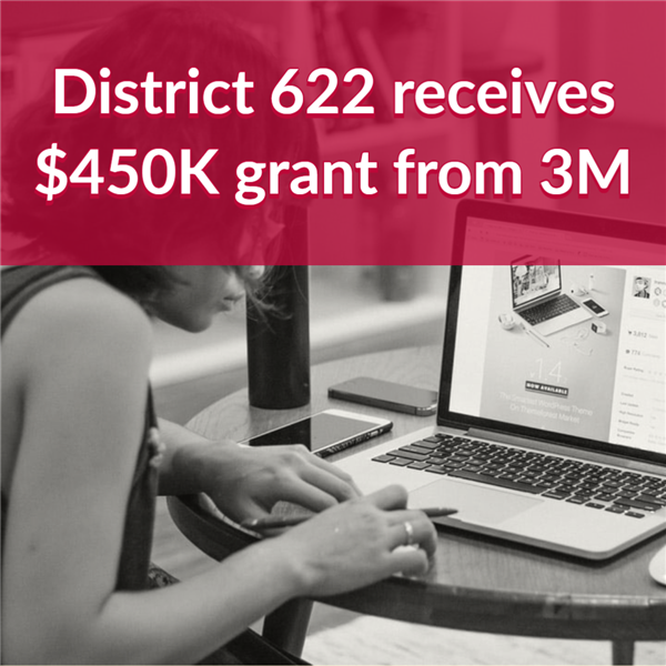 District 622 receives $450K Grant from 3M