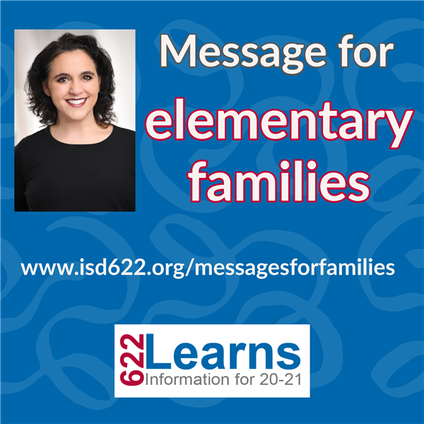 Message for elementary families