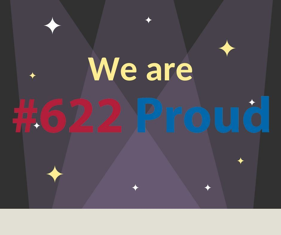 We are #622 Proud graphic