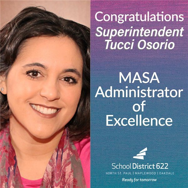 Superintendent Tucci Osorio recognized as an Administrator of Excellence