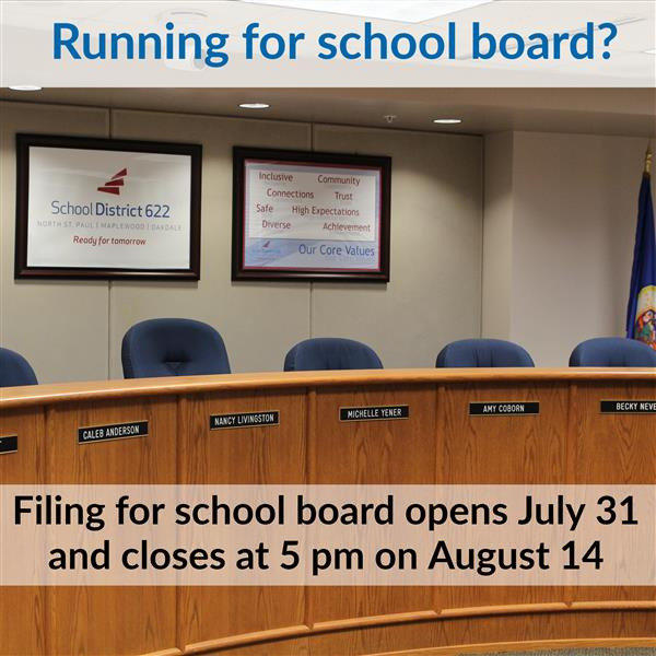 Notice for filing for election to the school board