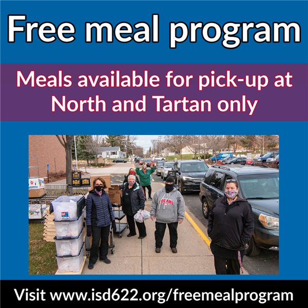 Free meal program - pick-up location update