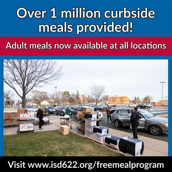 Free meal program - adult meals available at all locations beginning November 25