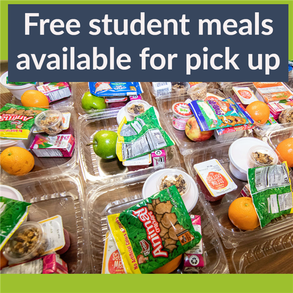 Free students meals available for pick up