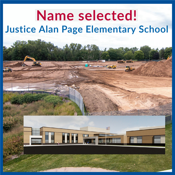 Name selected - Justice Alan Page Elementary School