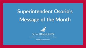 Superintendent Osorio's Message of the Month