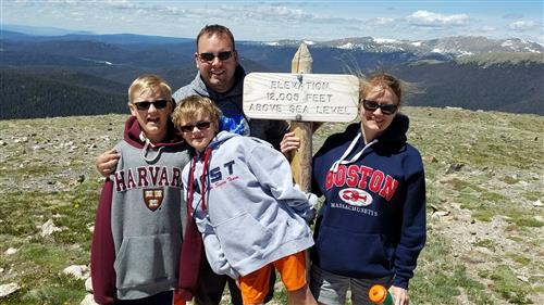 Mr. C and family in Rocky Mountain National Park