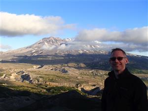 Mr. Gordon at Mount St. Helens