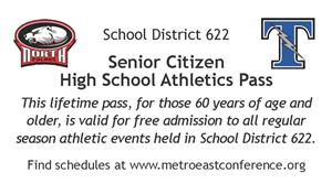 Athletic pass - front of card