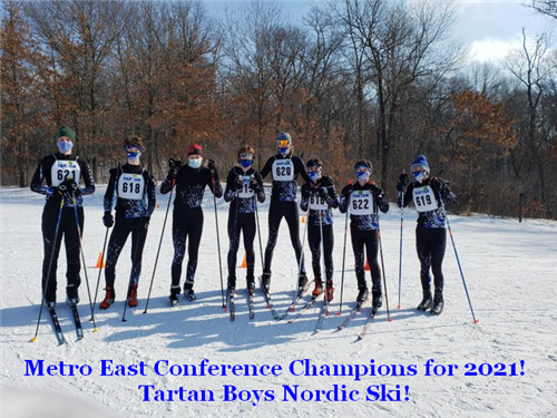 Tartan boys are 2021 Metro East Conference Champs