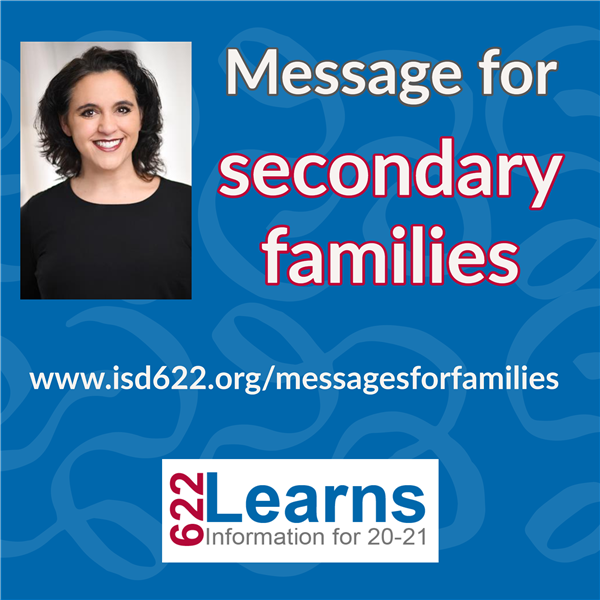 Message for secondary families from Superintendent Tucci Osorio