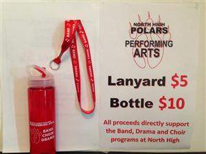 Performing Arts Lanyard and Water Bottle